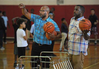 Small group basketball training